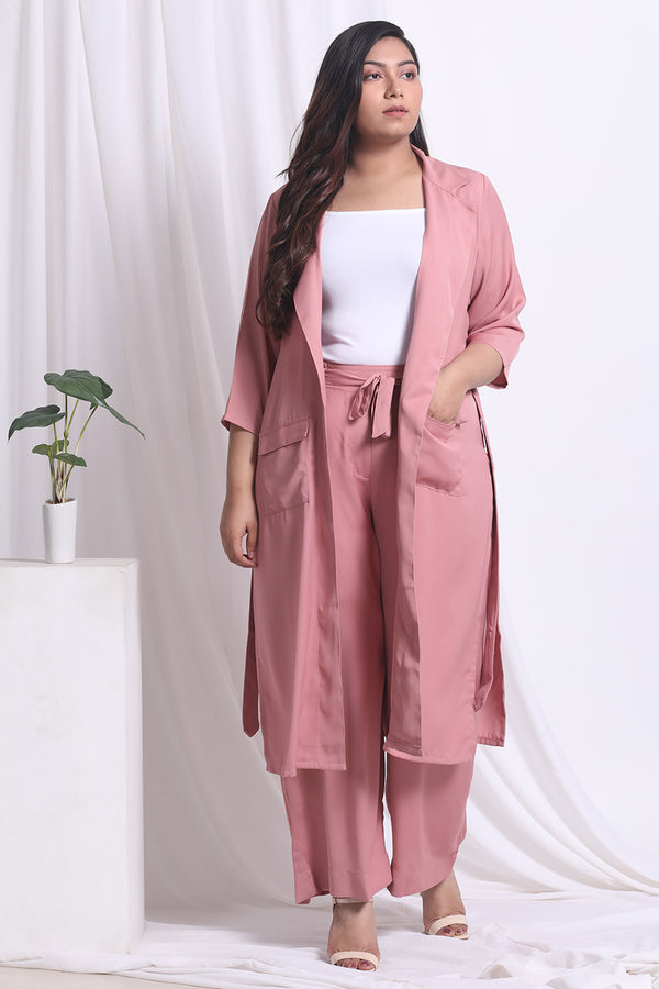 Dark Rose Blazer Style Duster