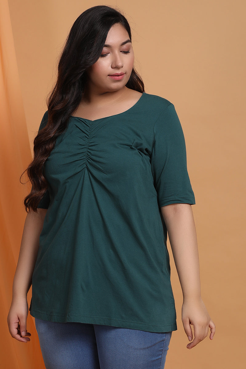 Emerald Green Sweetheart Neckline Top