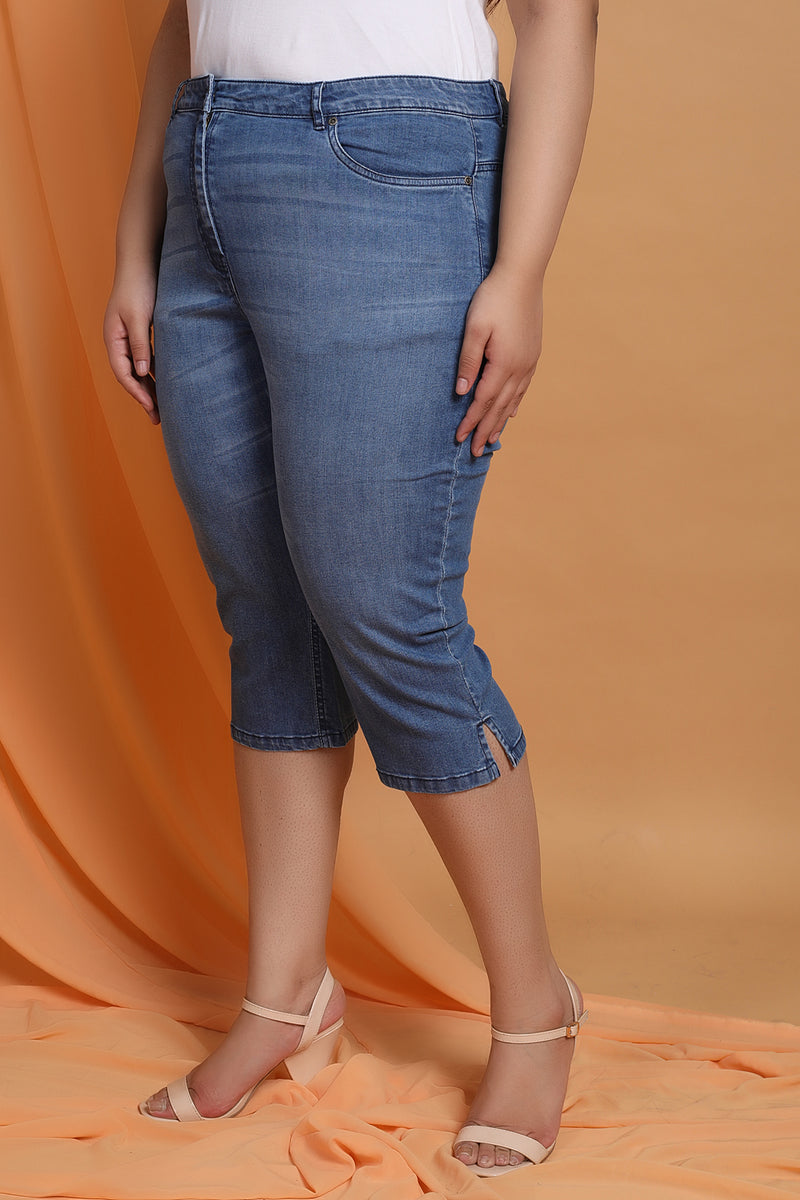Midwash Denim Capri