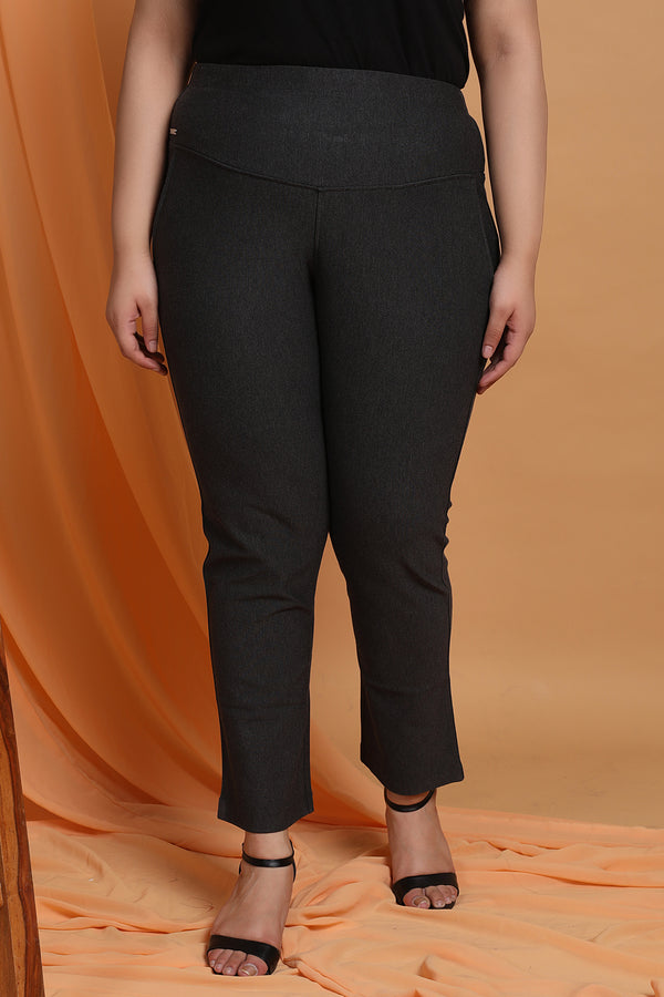 Dark Melange Tummy Shaper Pants