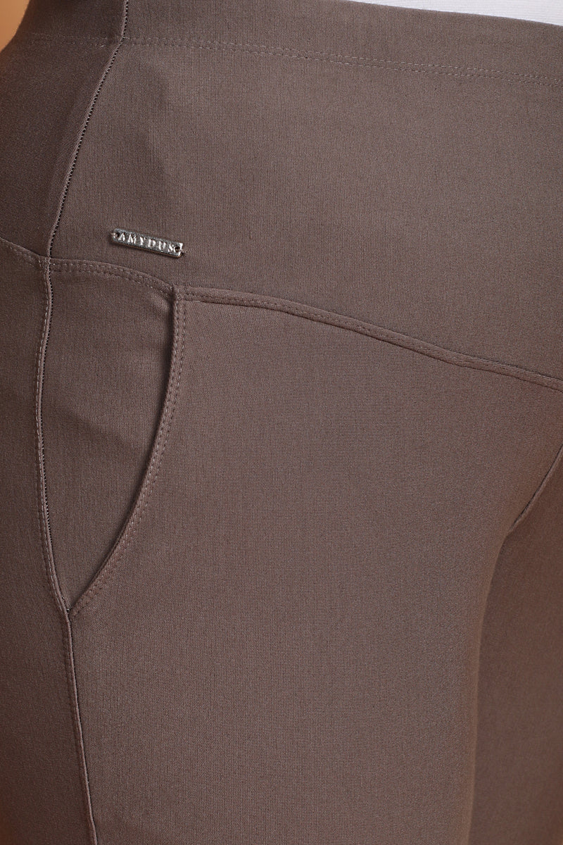 Brownish Grey Tummy Shaper Pants