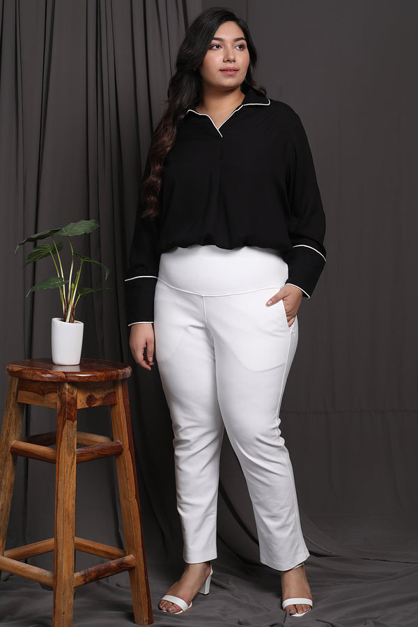 White Tummy Shaper Pants