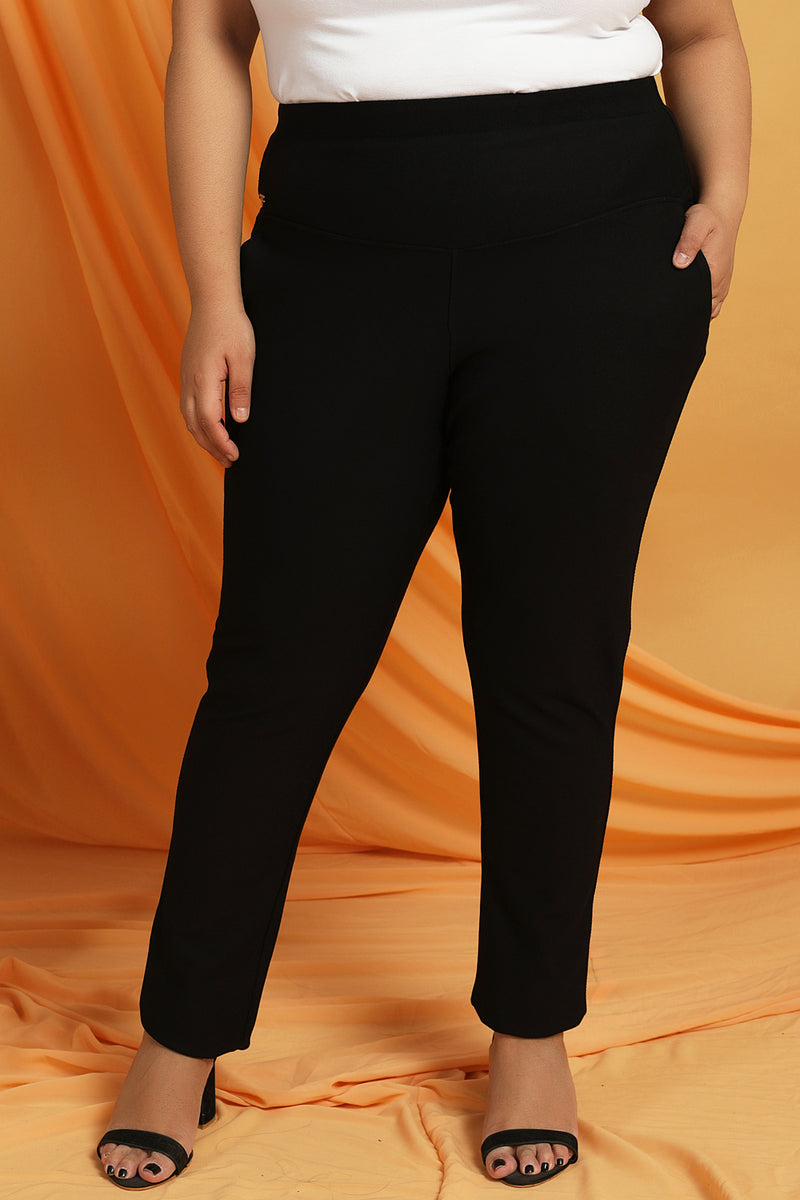 Tummy Shaper Trouser Fit Black Pants