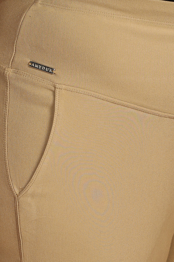 Tummy Shaper Trouser Fit Beige Pants
