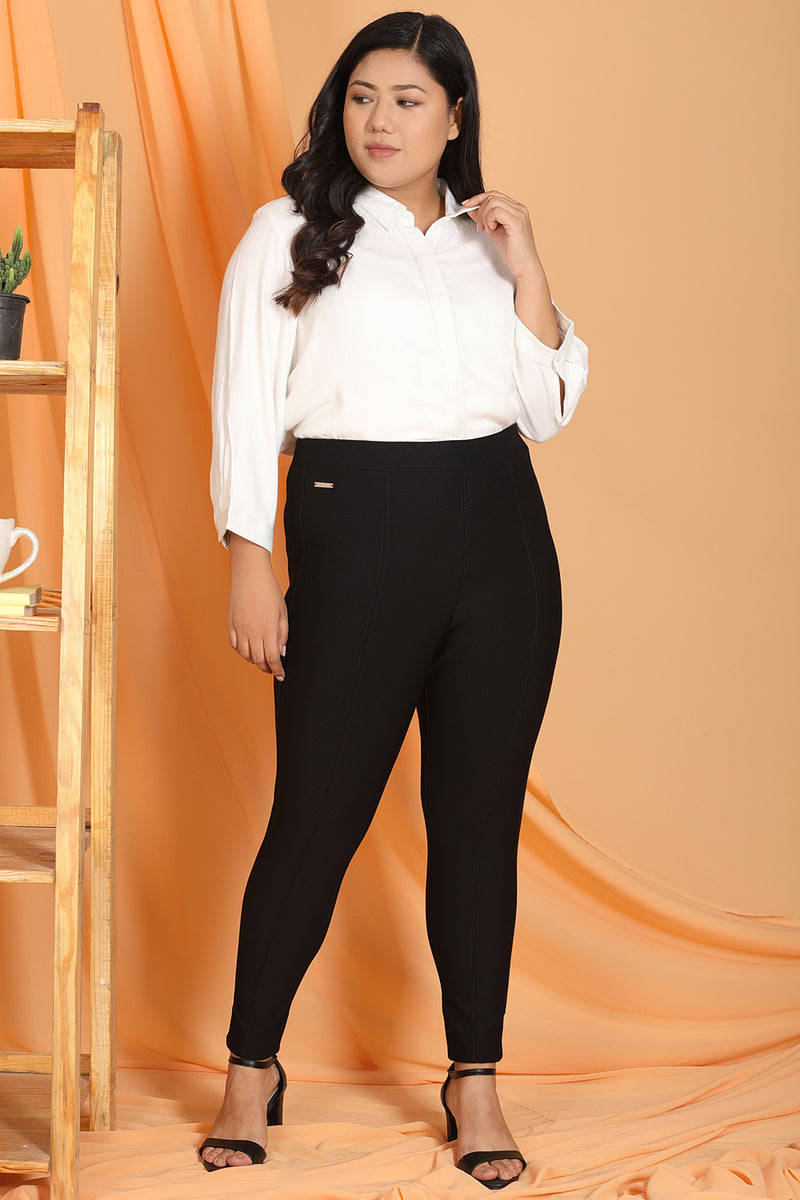 Tummy Shaper Black Treggings