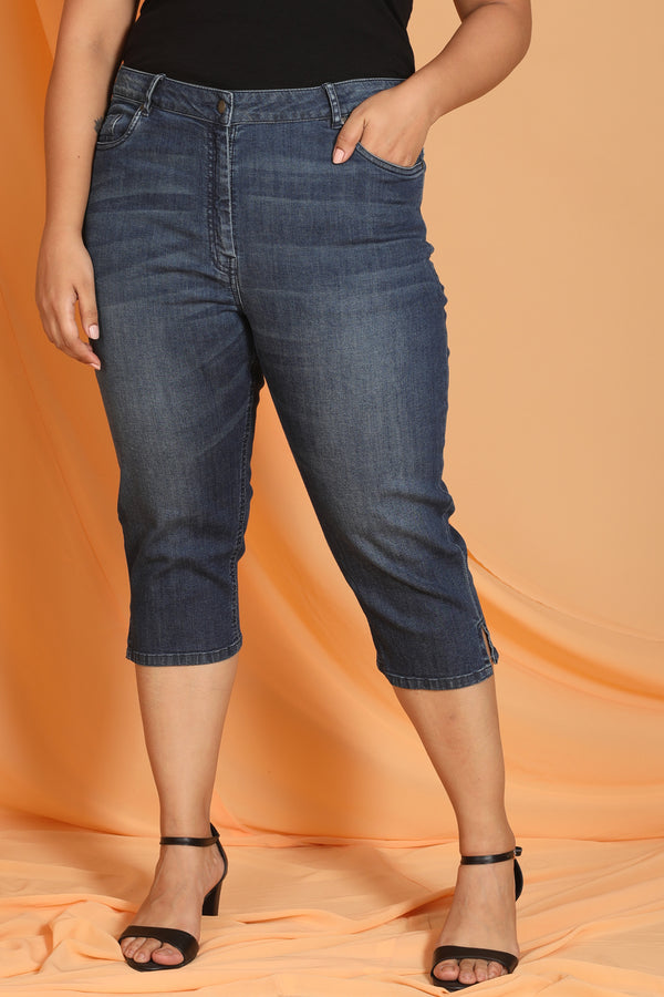 Denim Basic Capri