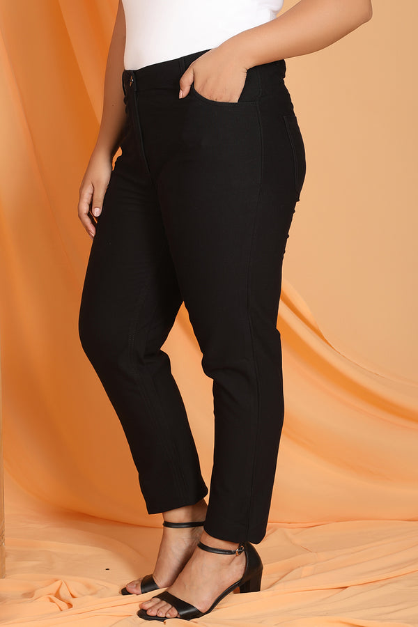 Black Stretch Pants