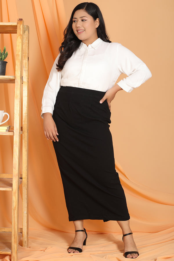 Black Pencil Skirt Full Length