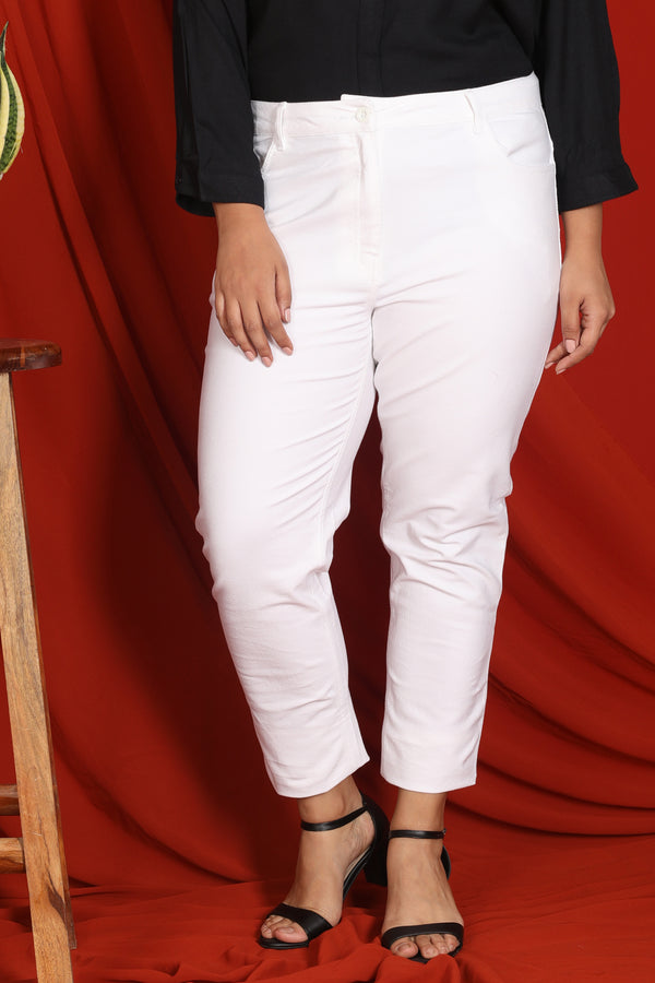 White Stretch Pants