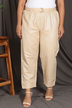 Light Golden Shimmer Relax Trouser