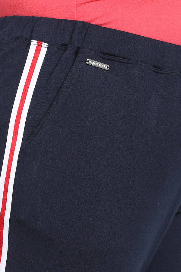 Navy White Side Stripe Lounge Pants