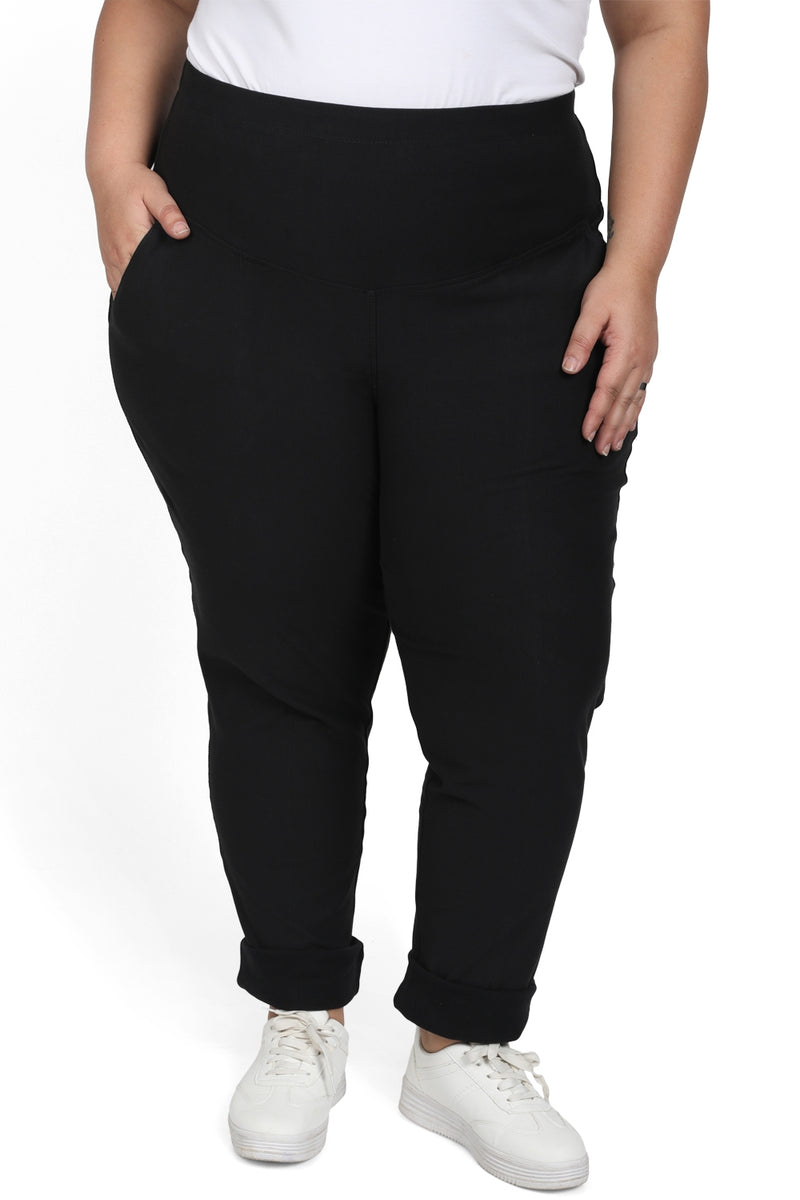 Autumn Black Tummy Shaper Pants