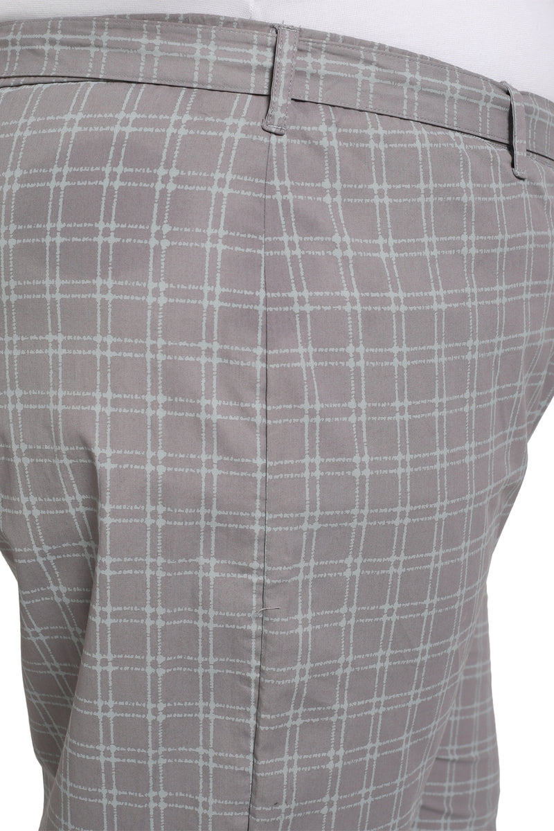 Grey Plaid Relax Trousers