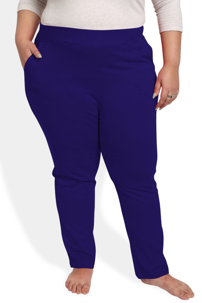 Blue Lounge Pants with Pockets