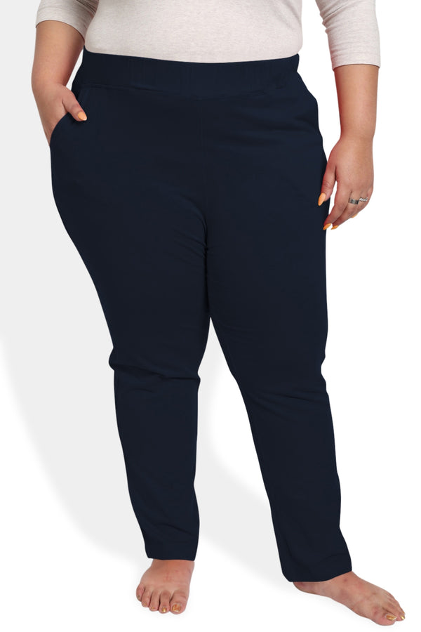 Navy Blue Lounge Pants with Pockets