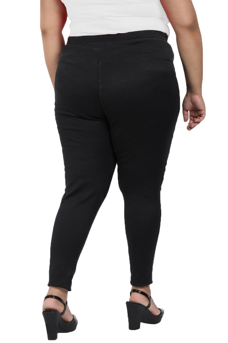 Black Denim Tummy Shaper Jegging