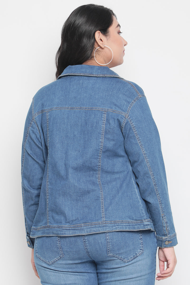 Mid Blue Denim Jacket