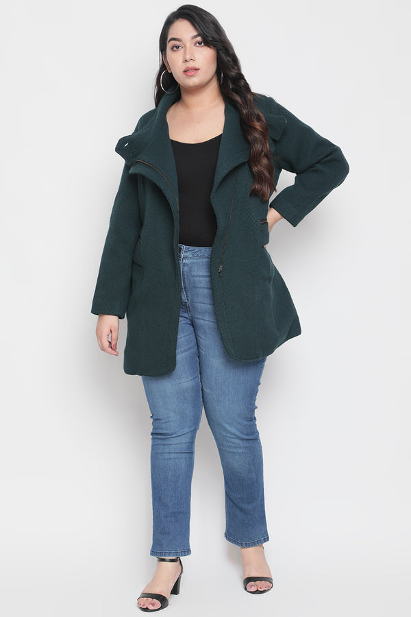 Emerald Zip Closure Jacket