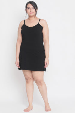 Black Basic Full Slip