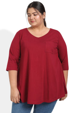 Chilly Red A Line Tee