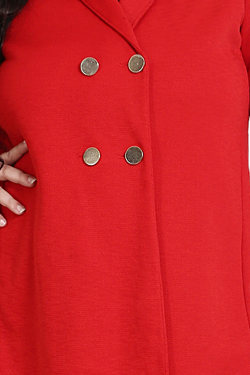 Red Flare Trench Coat