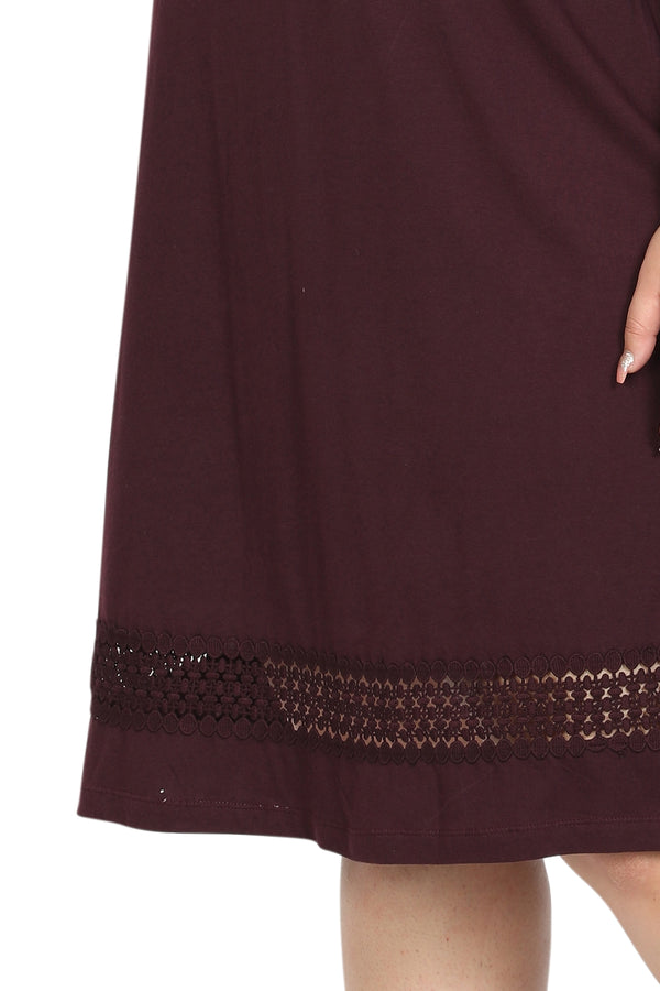 Plum Lace Knitted Dress