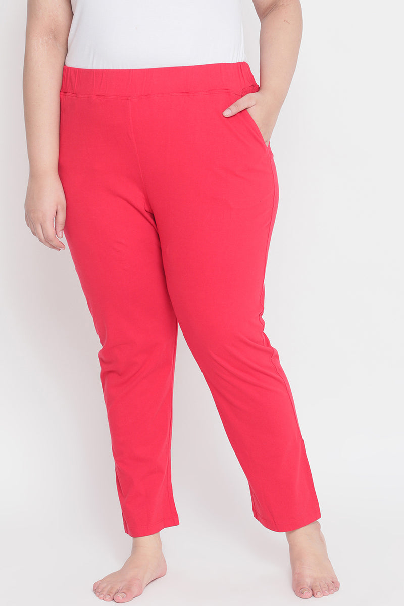 Red Lounge Pants with Pockets