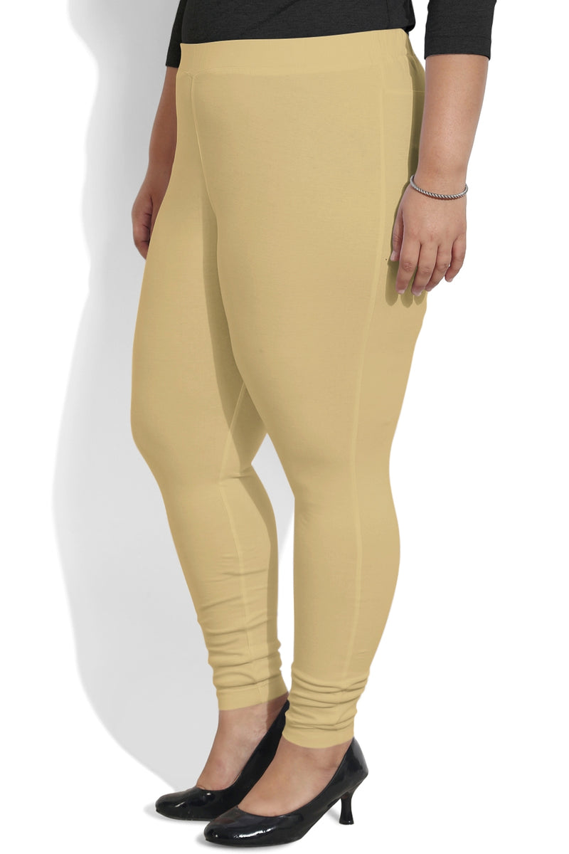 Beige Basic Leggings
