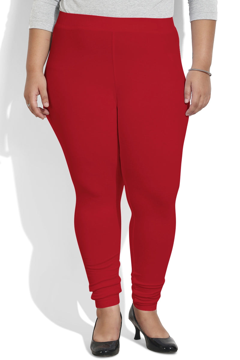 Dark Red Basic Leggings