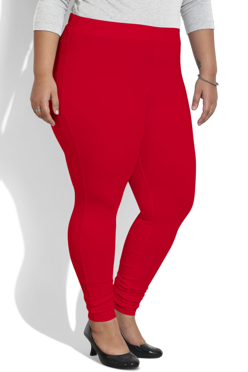 Red Basic Leggings