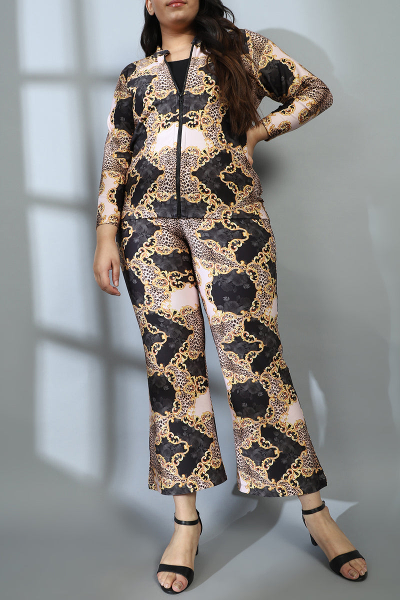 Gold Baroque Printed Jacket