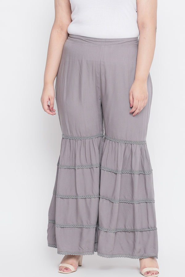 Grey Sharara Pants