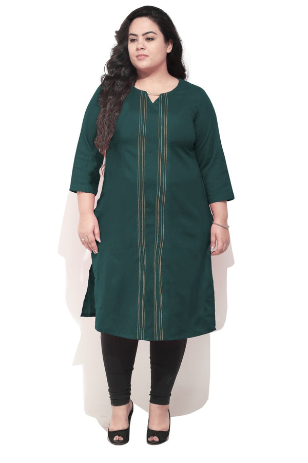 Bottle Green Essential Kurti