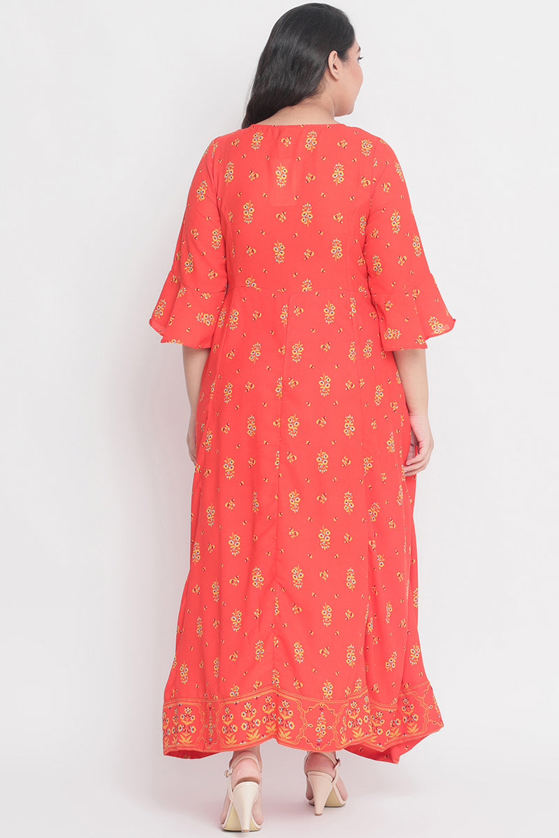 Poppy Printed Festive Gown
