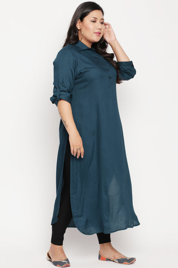 Reflecting Pond Roll Up Sleeve Kurti