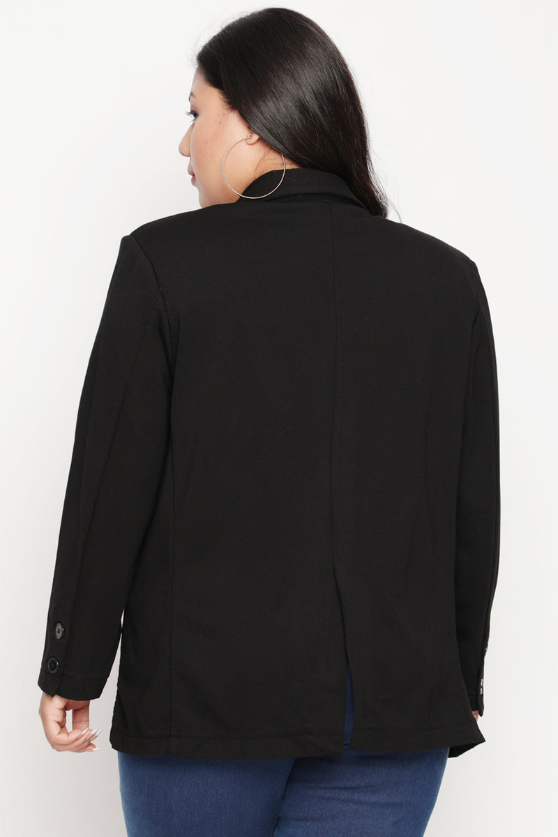 Black Formal Knitted Jacket
