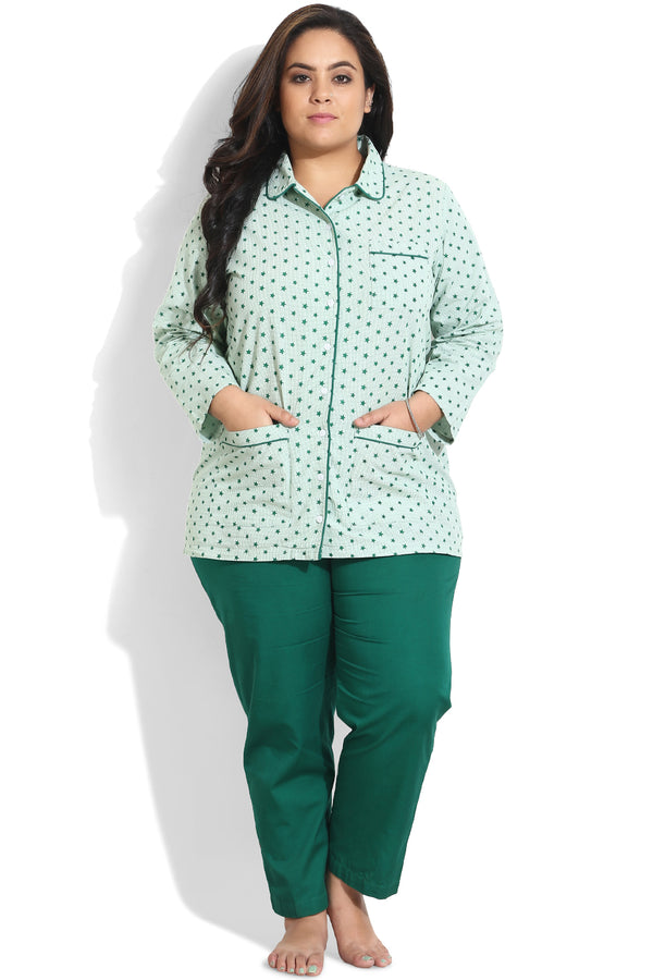 Green Night Wear Shirt