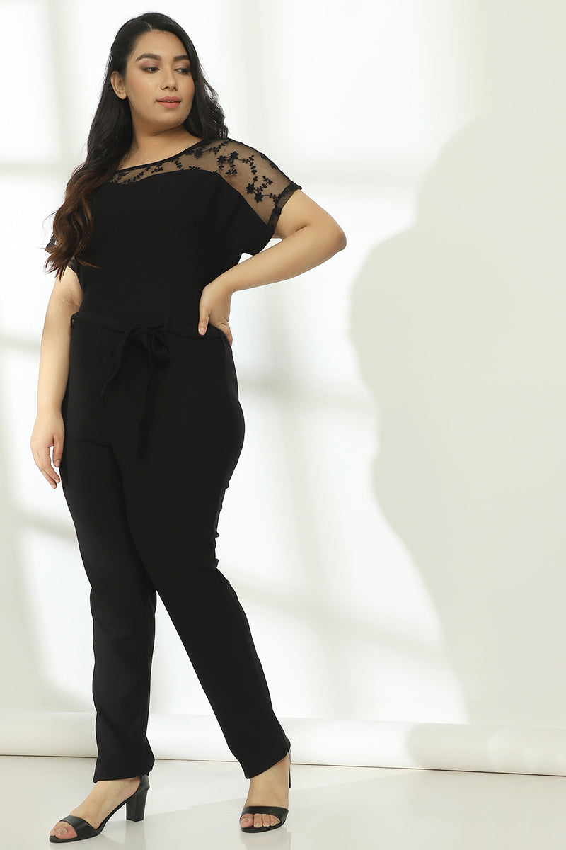 Black Net Jumpsuit