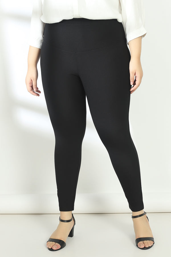 Black Essential Tummy Shaper Jegging