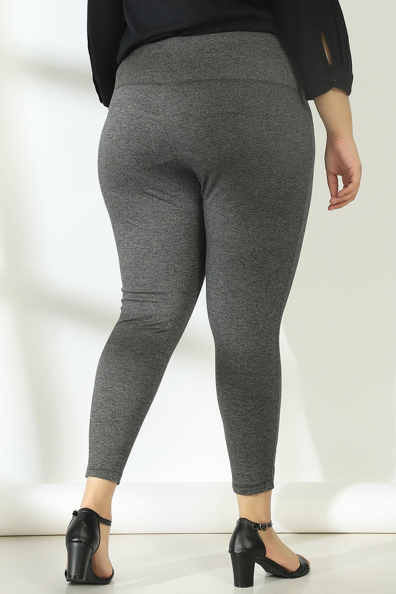 Dark Grey Tummy Shaper  Jegging