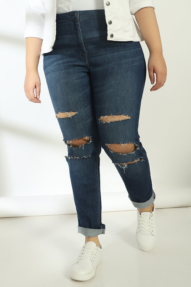 Navy Distress Denims