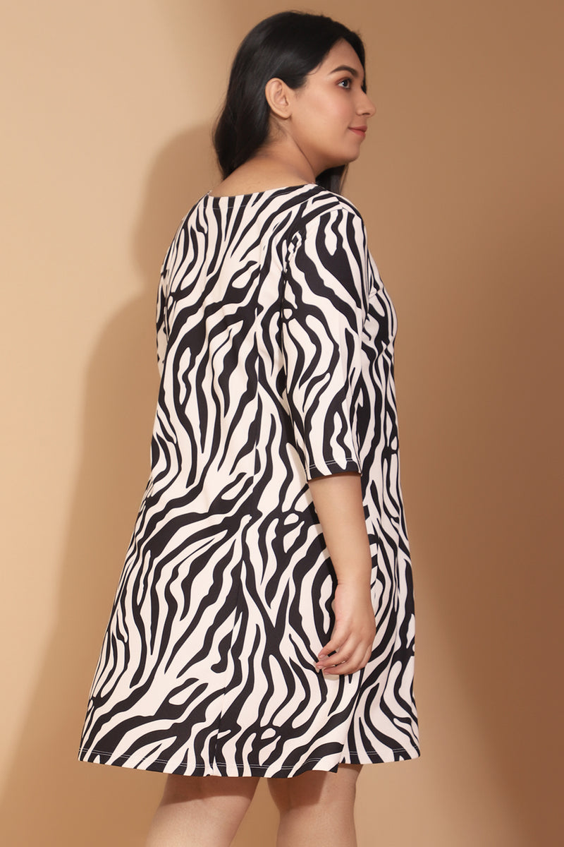 Tiger Printed Dress