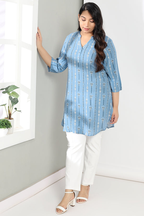 Blue Print Long line Top