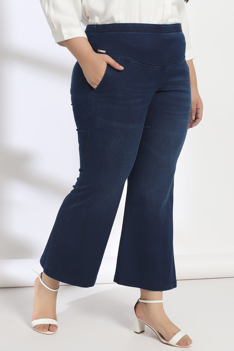 Mignight Washed Tummy Shaper Boot Cut Denim