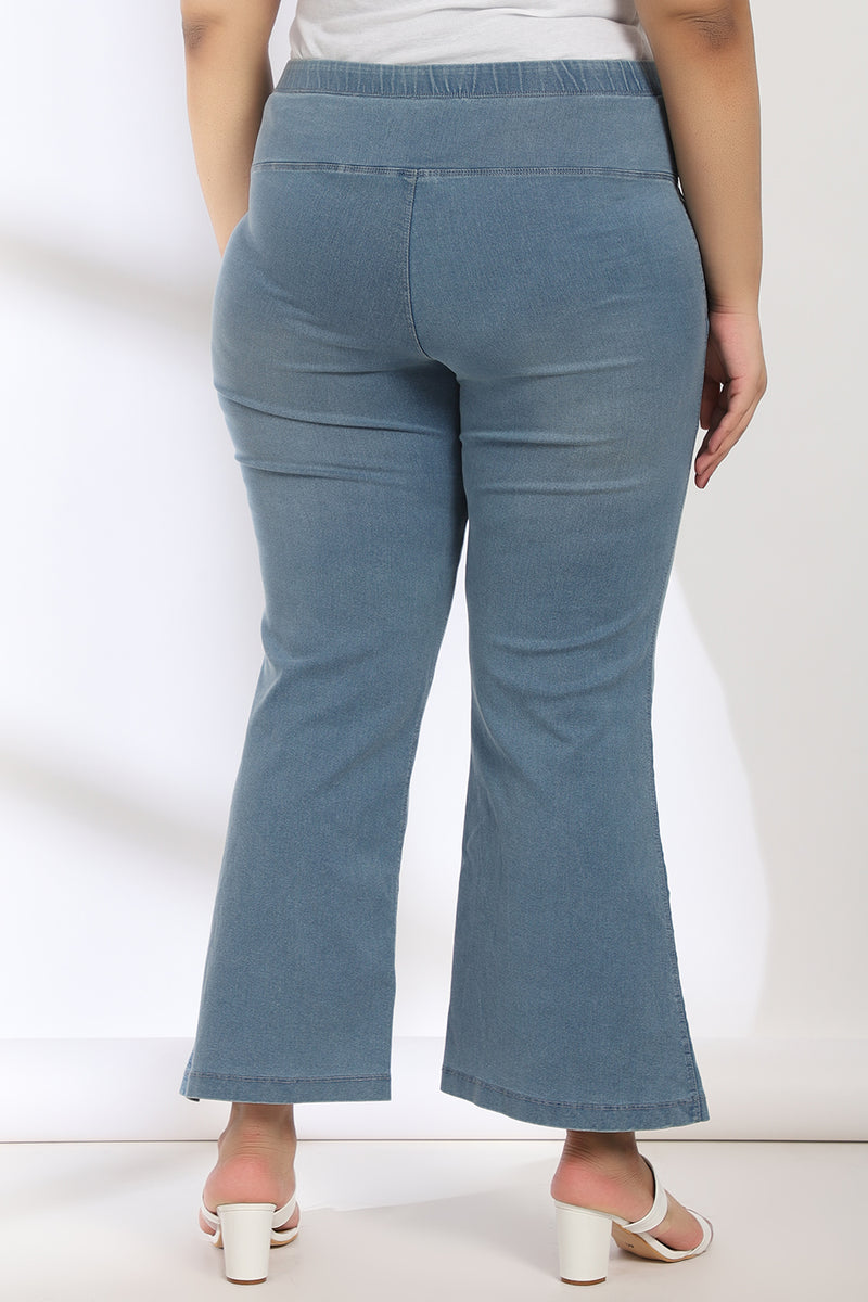 Sky Wash Tummy Shaper Boot Cut Denim
