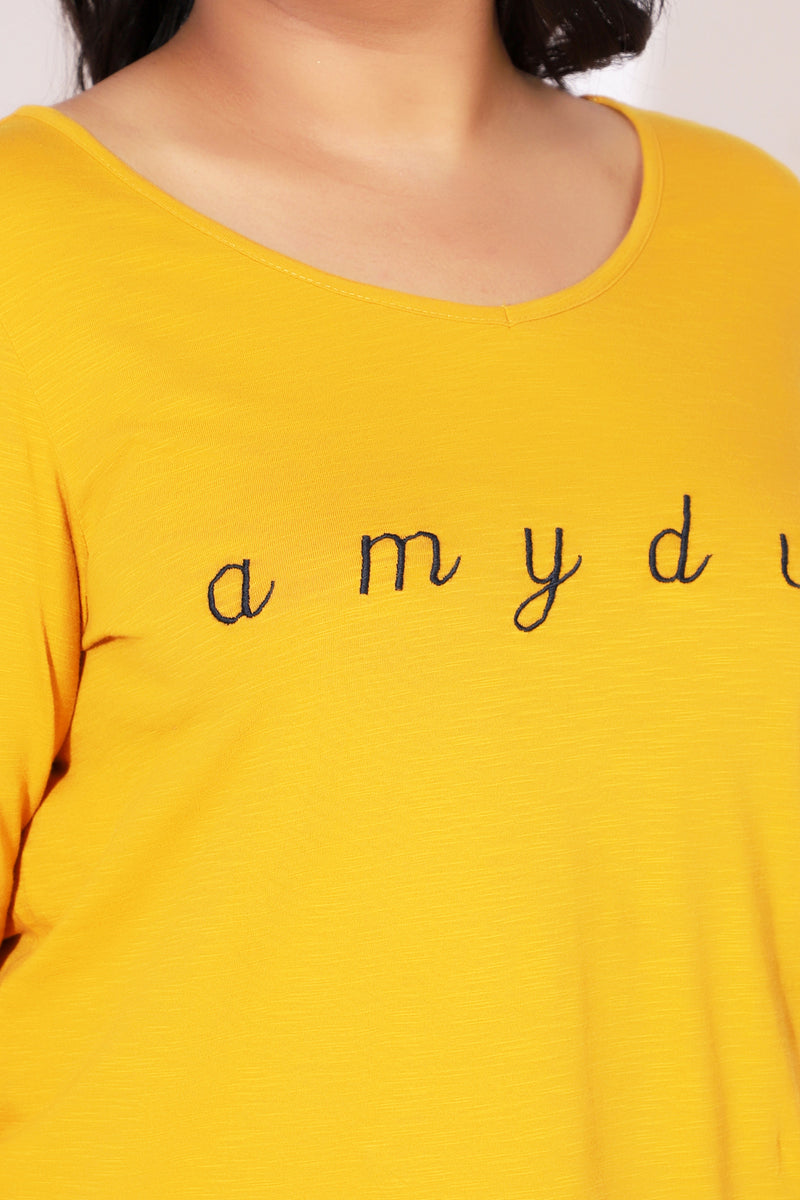 Yellow Emroidered TShirt