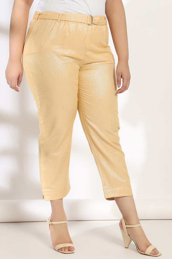 Golden Shimmer Relax Trouser