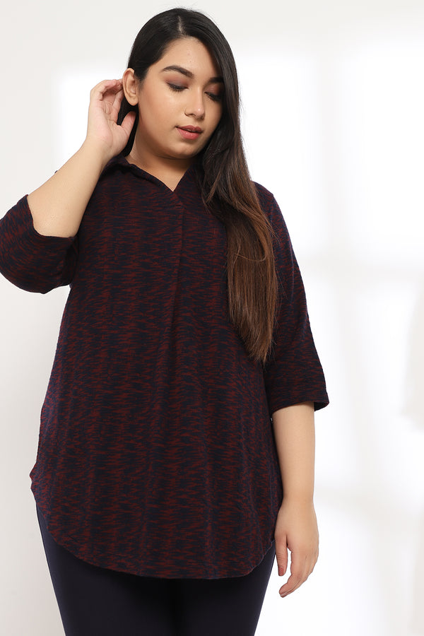 Nave Maroon Autumn Top
