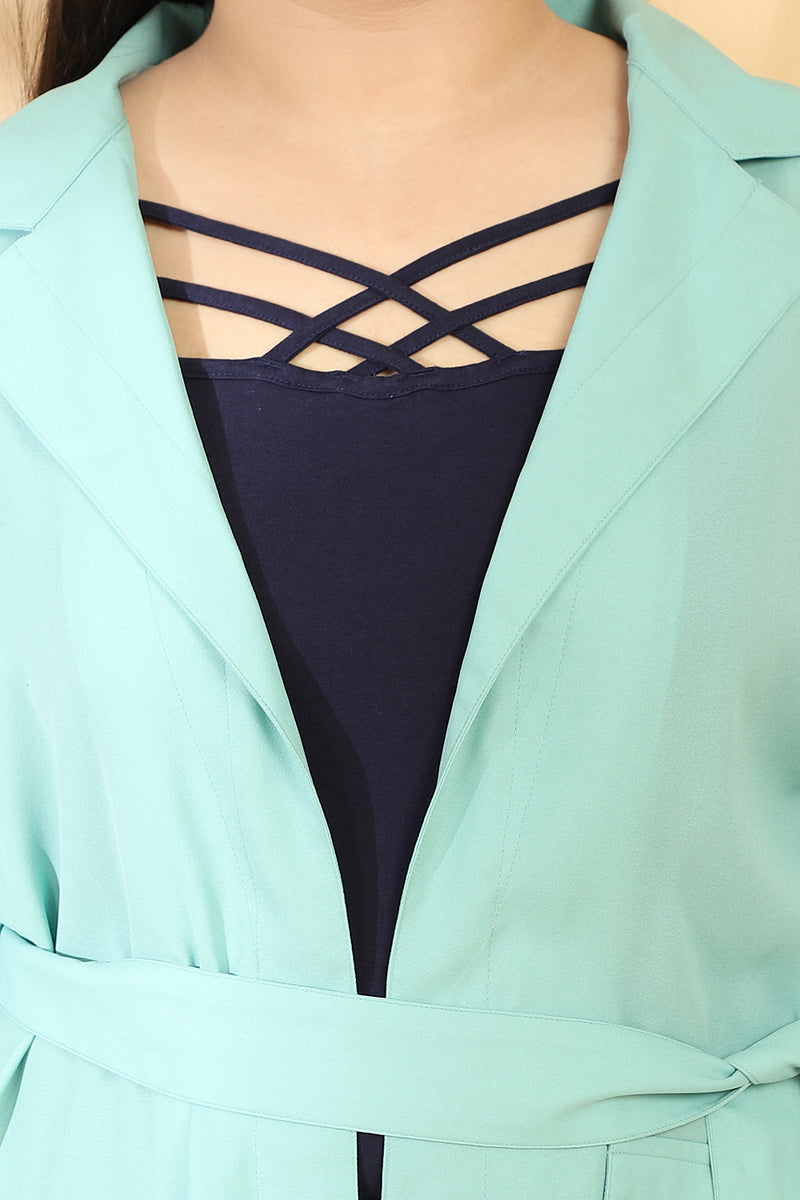 Menthe Blazer Style Duster