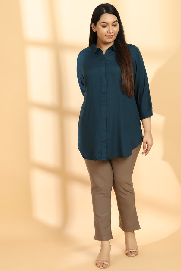 Reflecting Pond Round Hemline Shirt